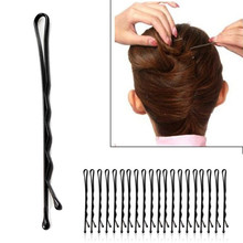 60Pcs 4.5 cm Hair Pins Invisible Curly Wavy Women Lady Clips Bobby Professional Salon Barrette Styling Tools