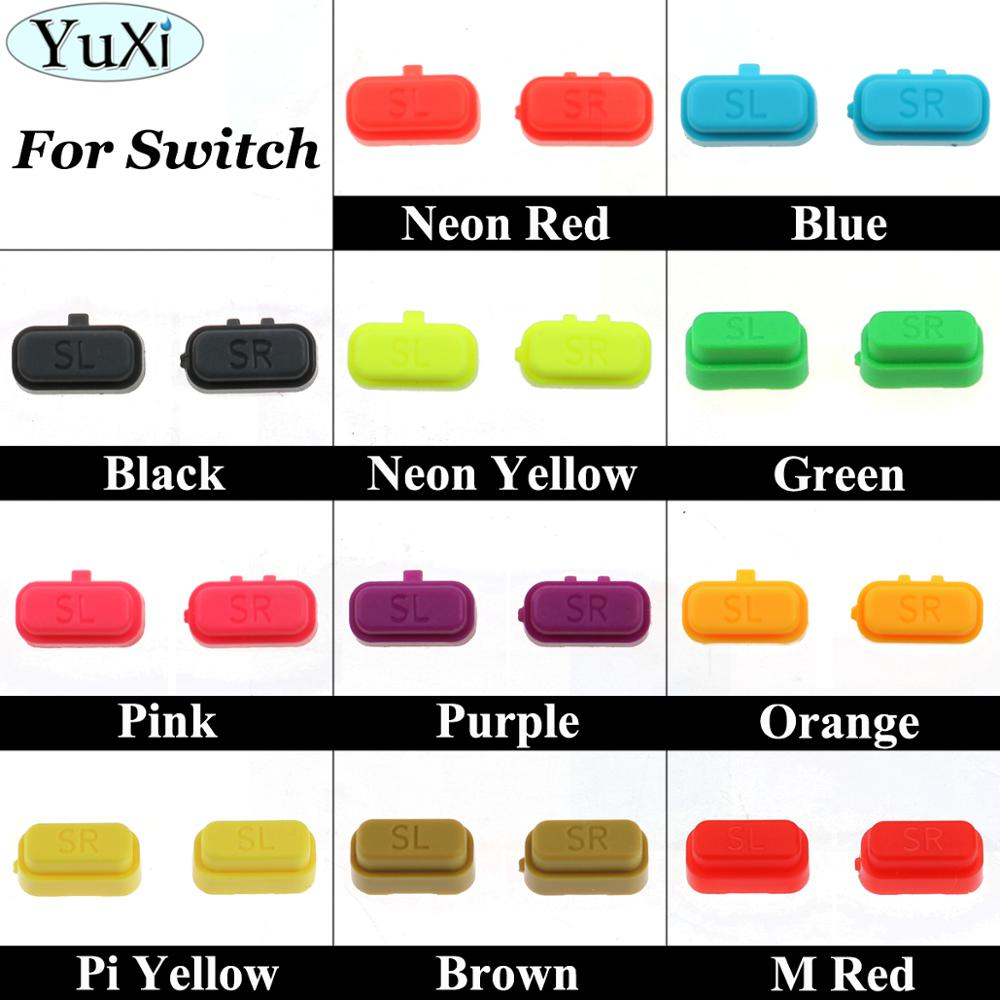 YuXi Side Left/Right SL SR Key Buttons For Nintend Switch Joy-Con NS Key Plastic Button Replacement Repair Part Game Accessories