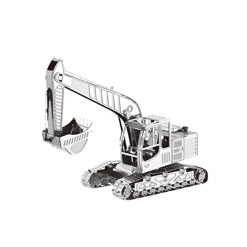 3D Metal Puzzles Model Heavy Machinery Engineering Car Truck DIY Laser Cut Manual Jigsaw Kits Adults Children Educational Gifts
