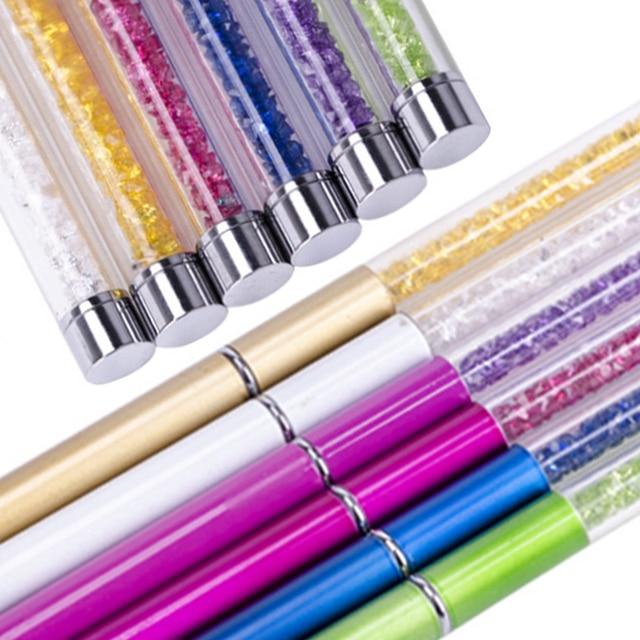 10 PCS 10 Colors Crystal Eyebrow Brushes  Beauty Makeup Tools Radian Adjustable Transparent Diamond Handle Eyebrow Lash Brush 5