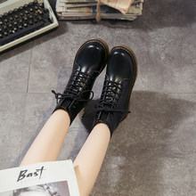 Autumn and winter Plush Martin boots women's high top flat sole casual women's shoes single shoe + cotton shoes