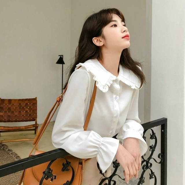 Shirts Women Solid Simple New Arrival Spring Korean Style Chic Trendy Casual Blouses Elegant Vintage Womens Streetwear All-match 5