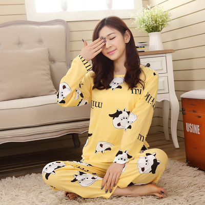 Spring And Autumn New Style Long Sleeve Pajamas Cute SpongeBob Qmilch Pajamas A Generation Of Fat Wholesale