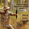 Bow and arrow split starter bow with silicone finger guard Archery equipment M3 wooden handle straight draw bow