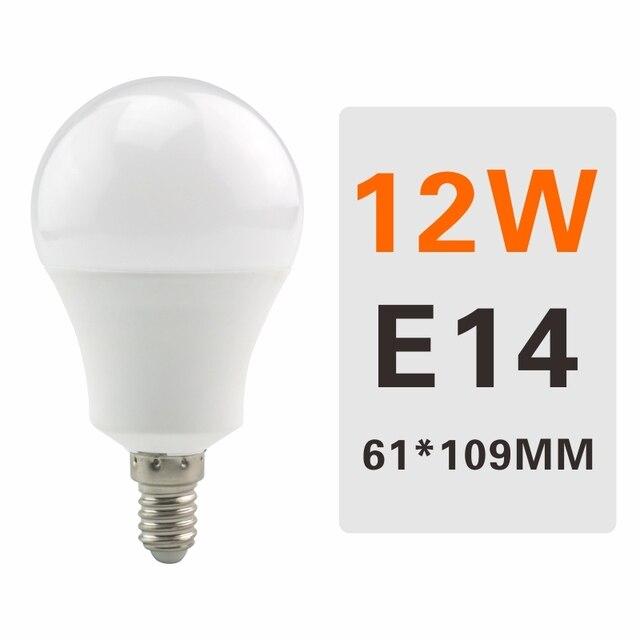 6PCS LED Bulb Lamps E27 E14 220V Light Bulb Smart IC 3W 6W 9W 12W 15W 18W 20W 24W High Brightness Lampada LED Bombilla Spotlight