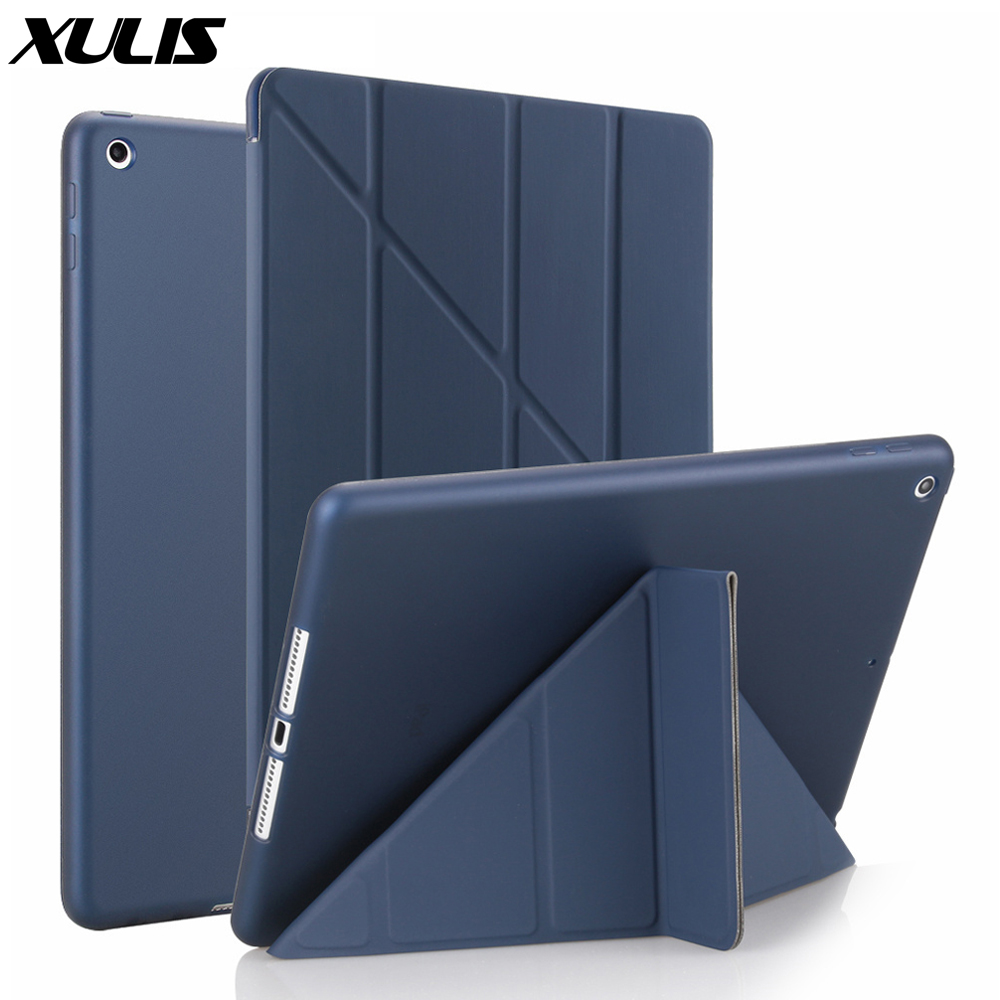 For ipad 9.7 2018 Case Leather Silicone Soft Back Cover Case For ipad 6th Generation Case Smart Cover For ipad 9.7 2017 Case
