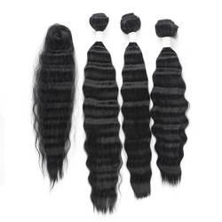 Syntetyczny pakiet włosów ciało fale wiązki Curles do przedłużania włosów dla kobiet piękne 16