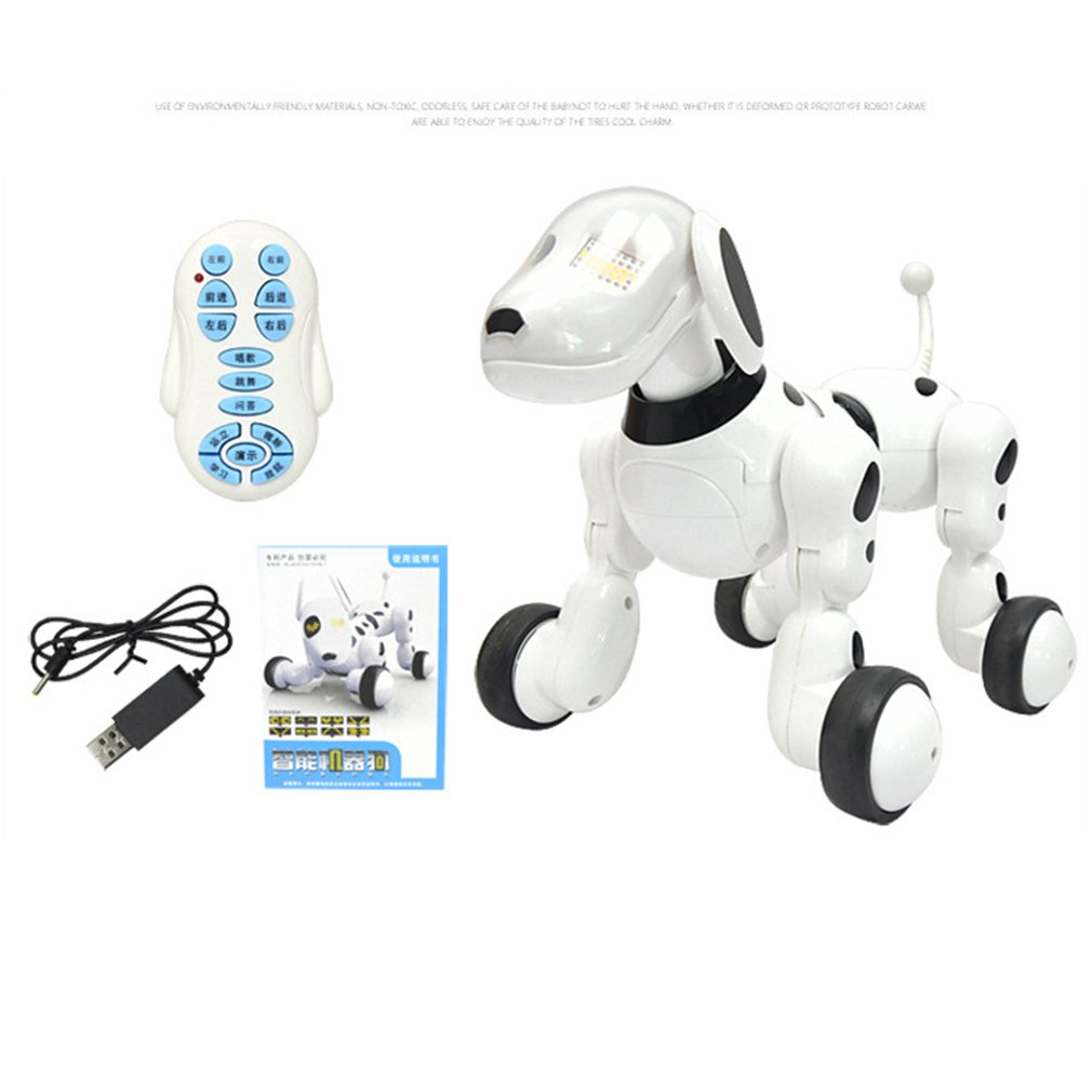 Electric Animal Dog Smart RC  Robot Toy Electrically Driven Remote Control Children's Educational Development Toy Gift For Child