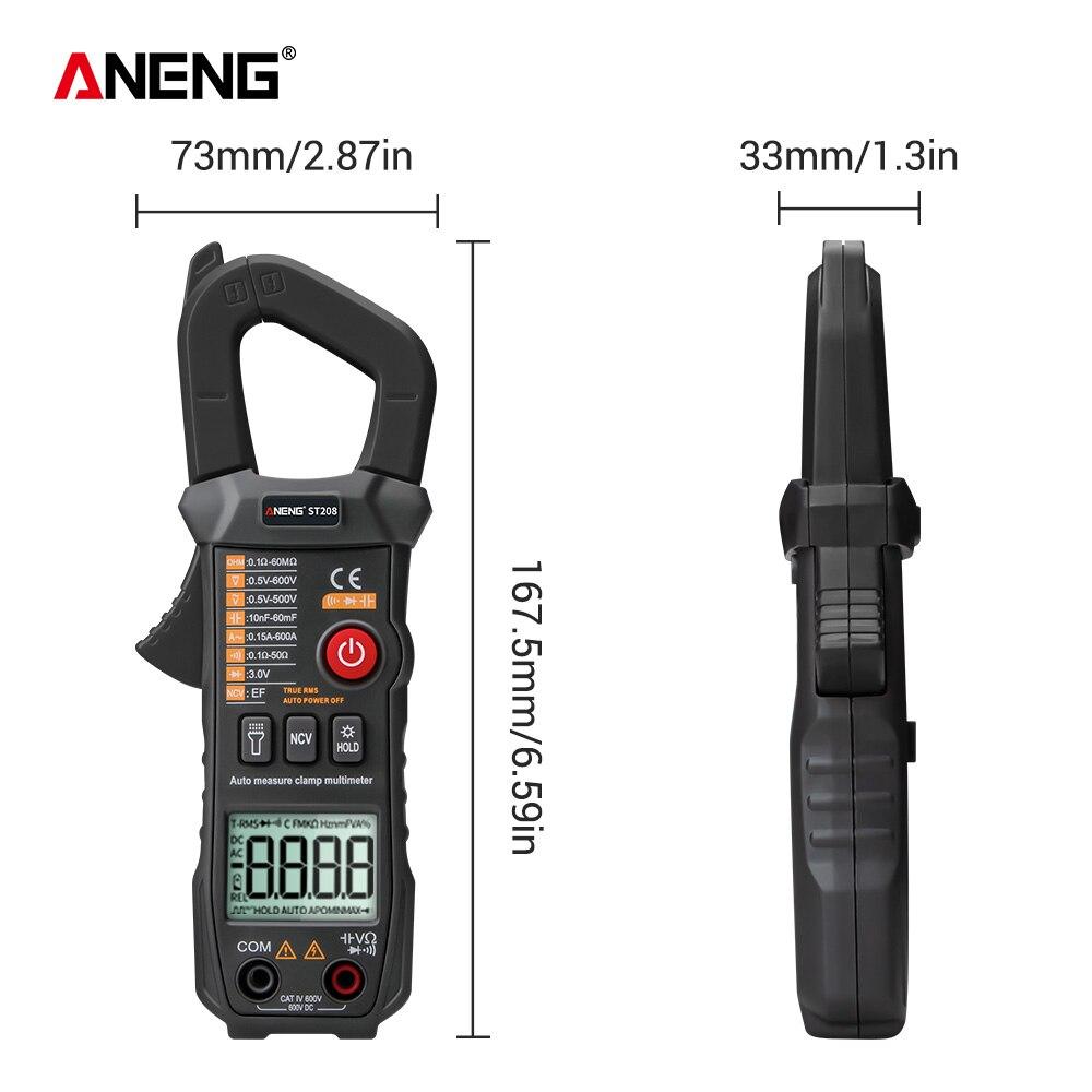 Image 5 - ANENG ST208 Digital Clamp Meter Multimeter Car 6000 counts AC/DC Current Measure Transistor Tester Voltimetro AmperimetroMultimeters   -
