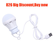 3W/5W/7W Usb Bulb Light Portable Lamp Led 5730 For Hiking Camping Tent Travel Work With Power Bank Notebook christmas for home @(China)