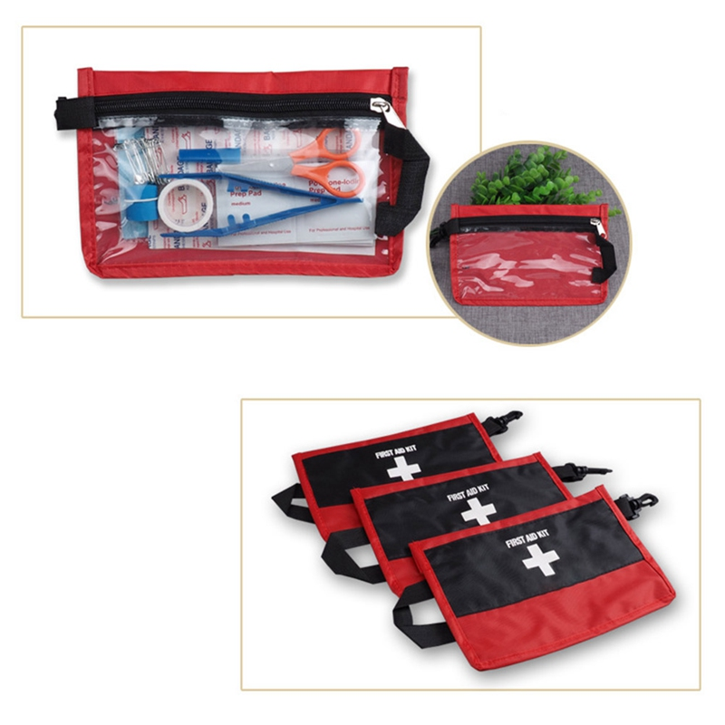 12Pcs/Set Outdoor Sports First Aid Kit Travel Medicines Portable Camping Bag Survival Handbag Home Office Emergency Kits