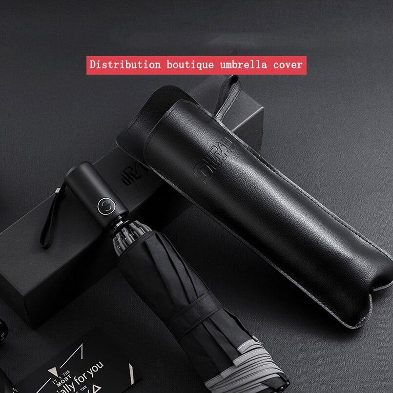 Автоматический складной деловой Зонт с отражающими полосками, зонтик от дождя для мужчин и женщин, ветрозащитный мужской