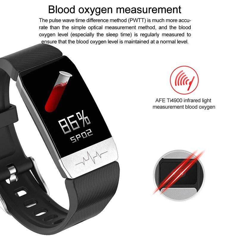 T1s relógio inteligente monitor de freqüência cardíaca