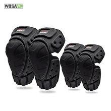 Wosawe ciclismo cotovelo protetor joelheiras eva equipamentos de proteção para moto esqui patinação skate ridng corrida guardas segurança