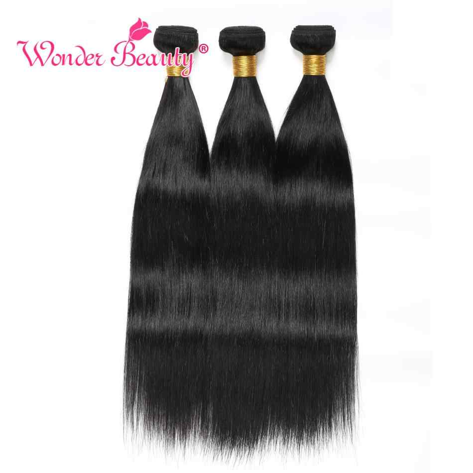 Straight Hair Malaysian Hair Bundles Wonder Beauty 100% Human Hair Bundles Remy Hair Extension Can But 3 Or 4Pcs Natural Black