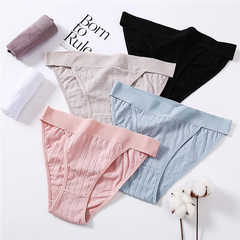Women Cotton Panties Sexy Low Waist Underwear Panties For Female Lingerie Underpants Hollow Heart Embossed Briefs Solid Color