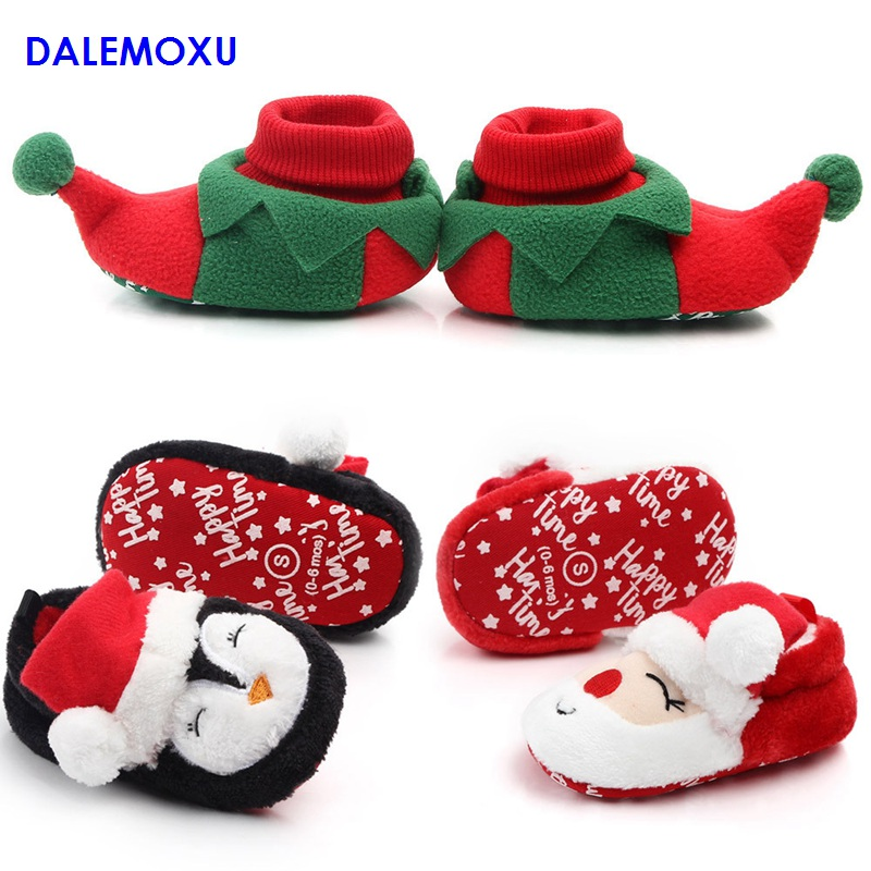 Christmas Baby Shoes Newborn Girl Boy Winter Snekers Soft Bottom Toddler Shoes Indoor Casual Non-slip Walking Shoes For Infant