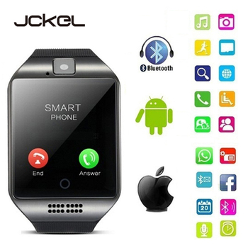 JCKEL 2020 New Q18S Smart Watch Support SIM TF Card Bluetooth Clock Smartwatch Music Camera Smart Watches for IOS Android Phone smart watch man clock support sim tf card sync notifier bluetooth connectivity phone men s alloy new smartwatch for android ios