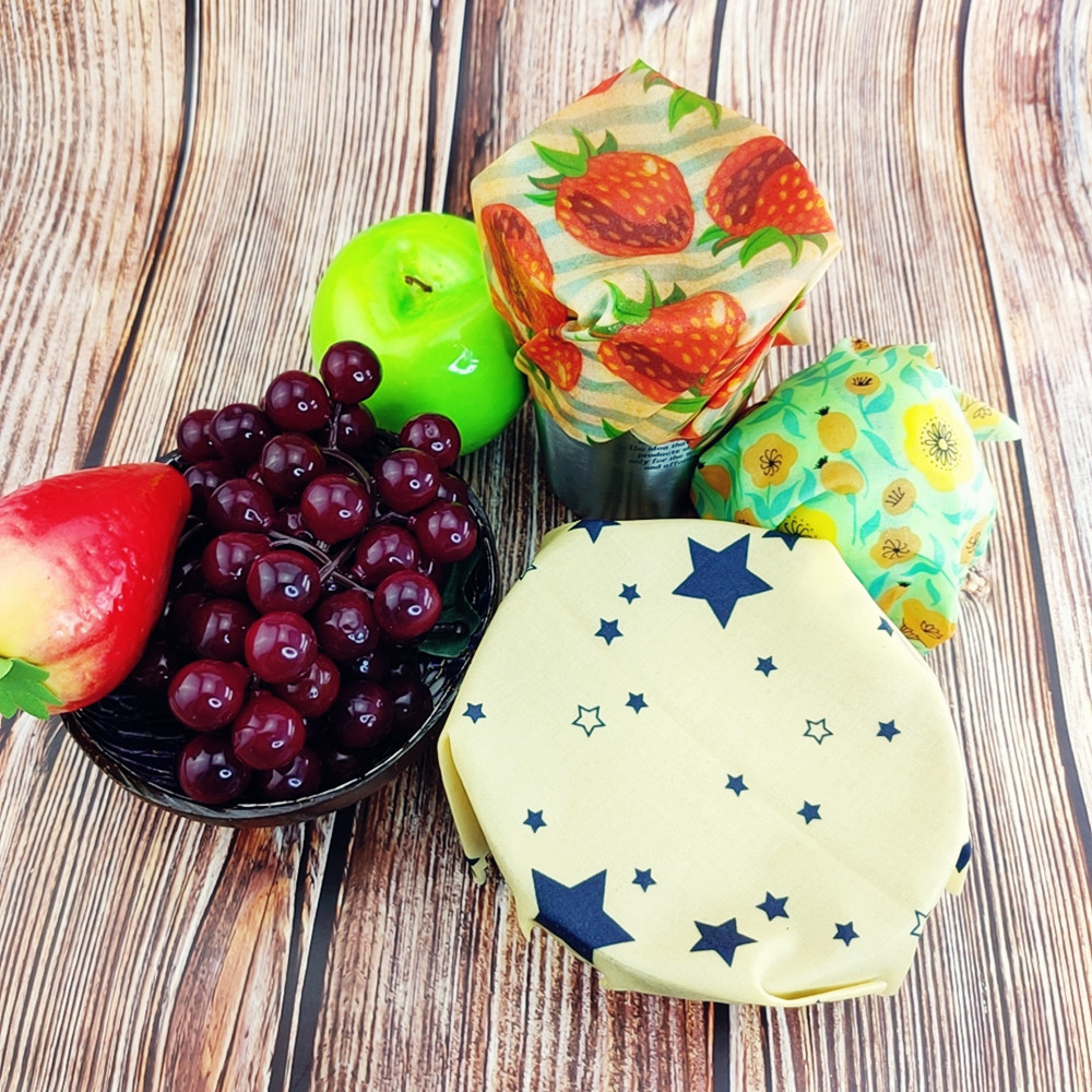 Zero Waste Reusable Storage Wrap Sustainable Organic Sandwich & Cheese Food Wrapping Paper BPA & Plastic Free Beeswax Food Wrap