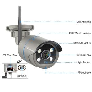 Image 2 - Techage 2MP 5MP אבטחת מצלמה אלחוטית Wifi IP המצלמה שתי דרך אודיו AI CCTV וידאו חיצוני מלא צבע ראיית לילה TF כרטיס P2P