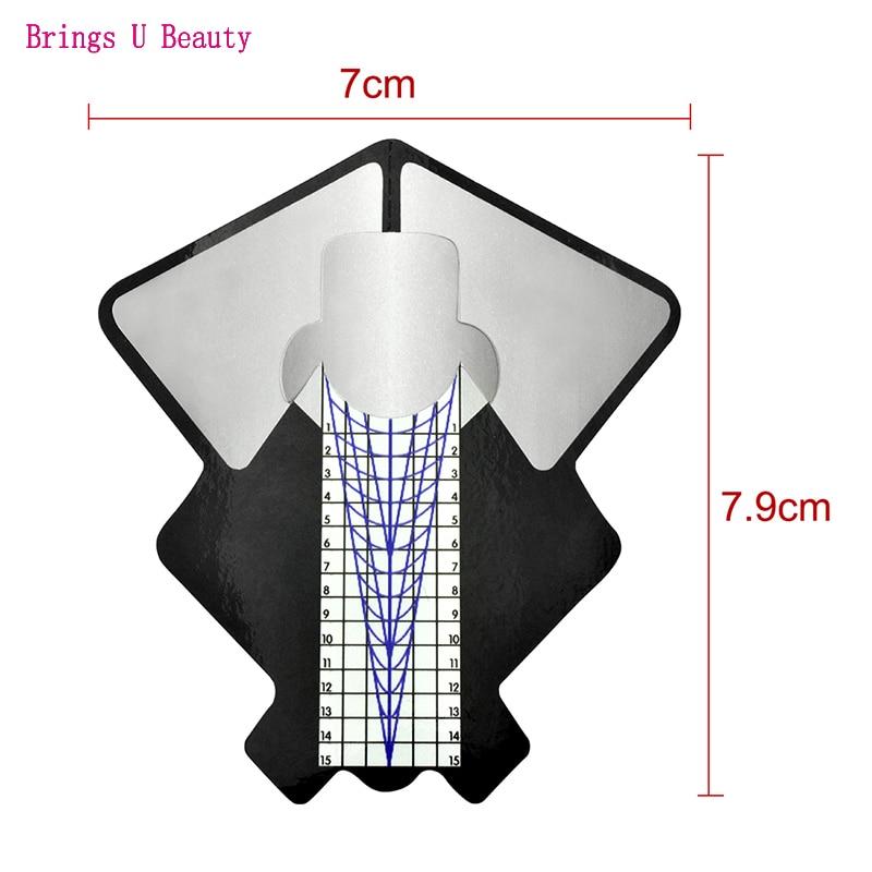 Купить 100 шт наклейки для формы ногтей овальные сильные самоклеющиеся