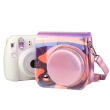 For Fujifilm Instax Mini 9 Mini 8 Camera Bag PU Leather Instant Camera Accessories Shoulder Bag Protector Cover Case With Strap цена 2017