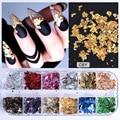 1 pcs Style Mixed Colors Nail Glitter 3D Irregular Platinum Foil Paper Nail Art Sticker Manicure Nail Art Decoration Supplies To