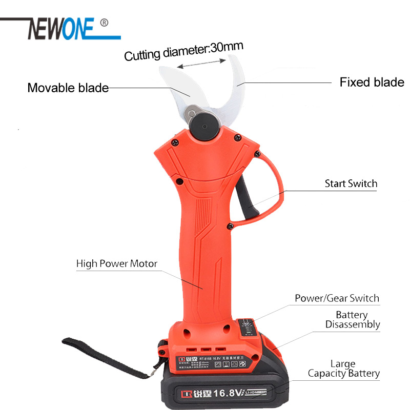Grape Chainsaw Ion Kit Shear Mini Case NEWONE 8 Portable Brushless Pruning Cordless 800W Inch With Branch With 21V Li Combo