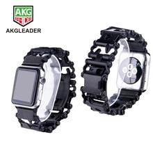 For Apple Watch Series 4 40/44mm Wrist Bracelet Metal Strap Mechanical Chain Band 1 2 3 38/42