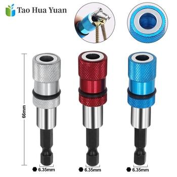 1/4 Hex Shank Electric Drill Magnetic Screwdriver Bit Holder 60mm Stainless Steel Magnetism Limit Adjustable Extension Bar