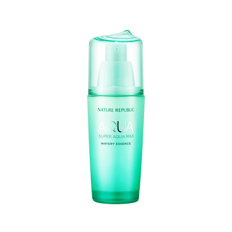 NATURE REPUBLIC Super Aqua Max Fresh Watery Essence 42ml Hyaluronic Acids Face Serum Moisturizing Whitening Essence Anti-aging