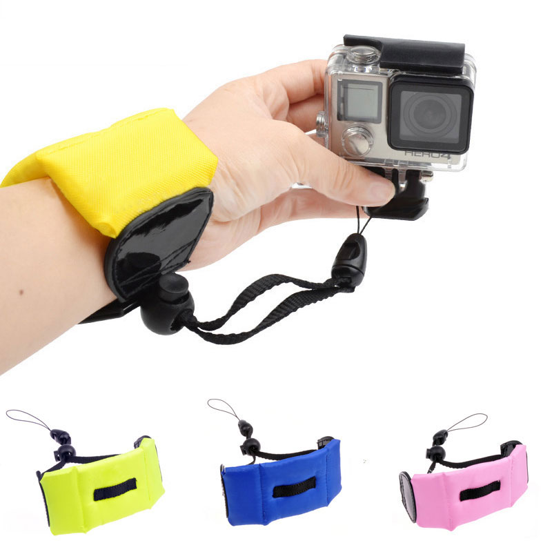 1pc Color Underwater Floating Foam Wrist Arm Hand Strap for GoPro Hero 4 3+ Sj4000 Mini Digital Float Wrist Camera strap image