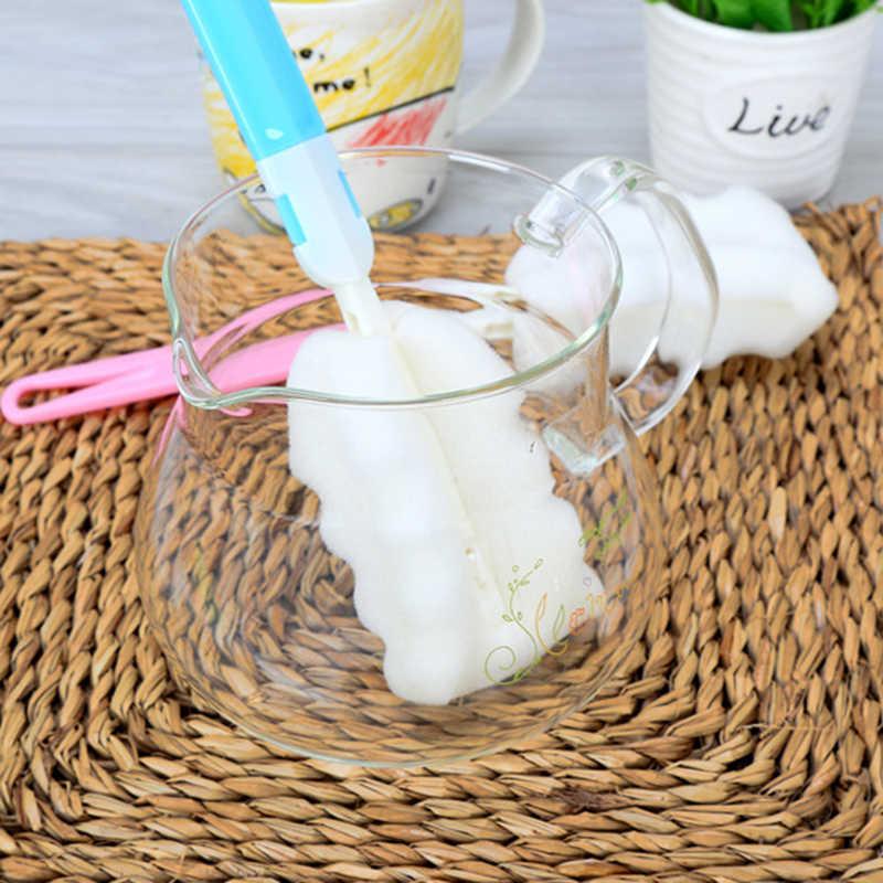 2 sztuk z długim kubek z uchwytem szczotka butelka dla dziecka szczotka do czyszczenia kubki z dziubkiem szklany imbryk do mycia urządzenia do oczyszczania odkażanie szczotka do czyszczenia