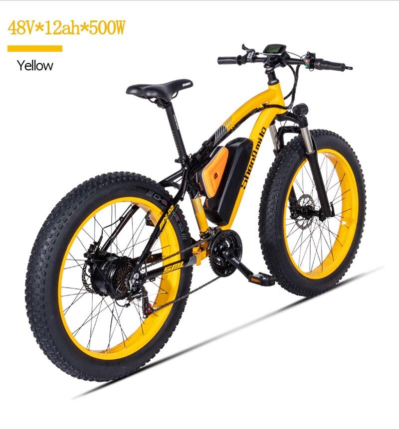 Elektrische berg Fahrrad Bafang Motor 500W Strand Rover Elektrische fahrrad 48V17A Lithium-Ele t ebike Elektrische Strand Auto 26 zoll Elec