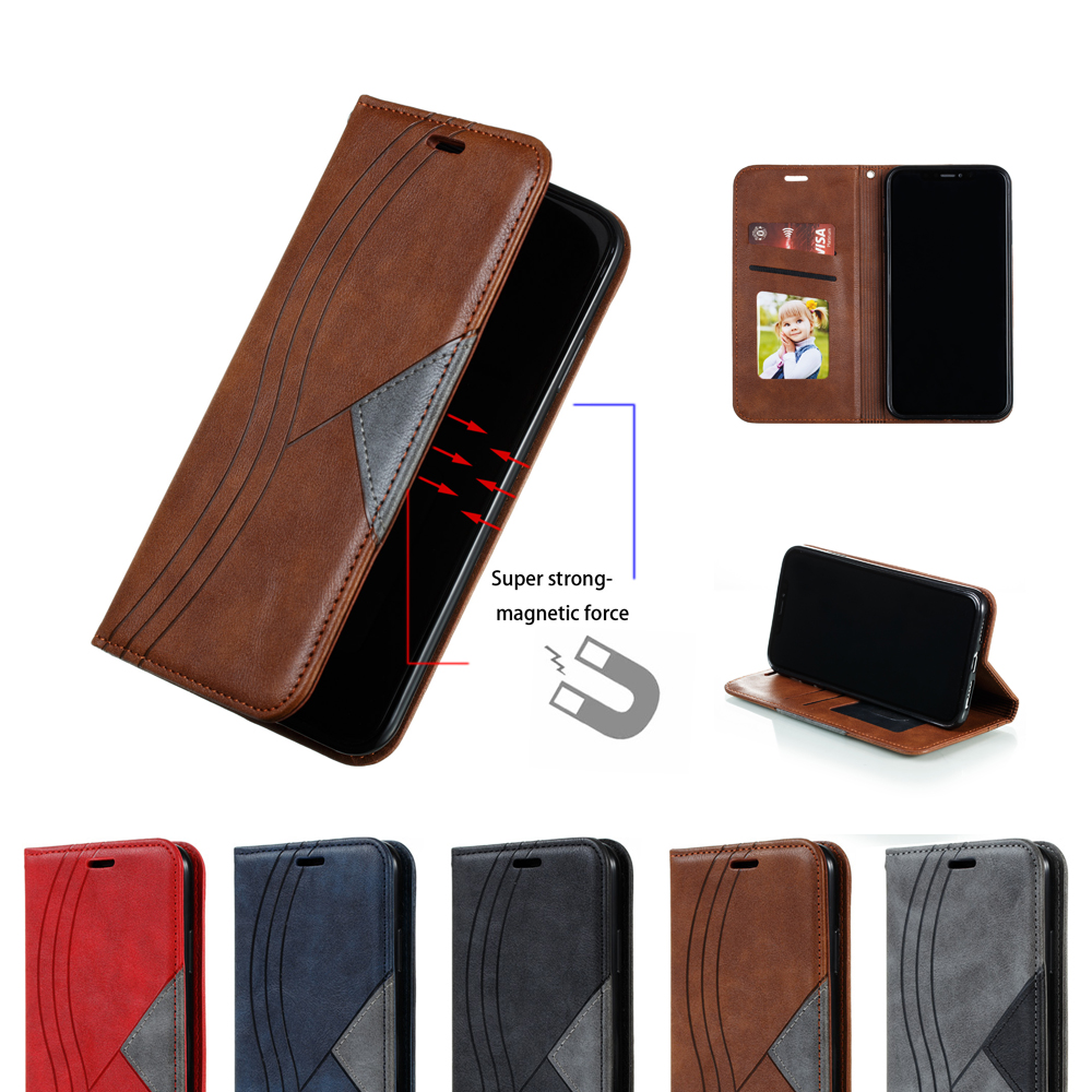 Luxury Splice For <font><b>SAMSUNG</b></font> Galaxy S7 Edge S8 <font><b>S9</b></font> S10 Plus Lite <font><b>Case</b></font> Magnetic Leather <font><b>Flip</b></font> Wallet Cover Mobile Phone Bag image