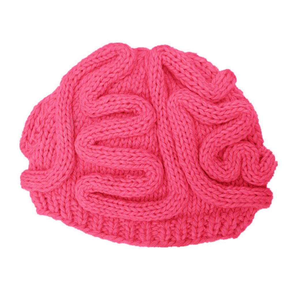 Knit Hat Wool Warm Outdoor Winter Fashion Brain Ski Personality