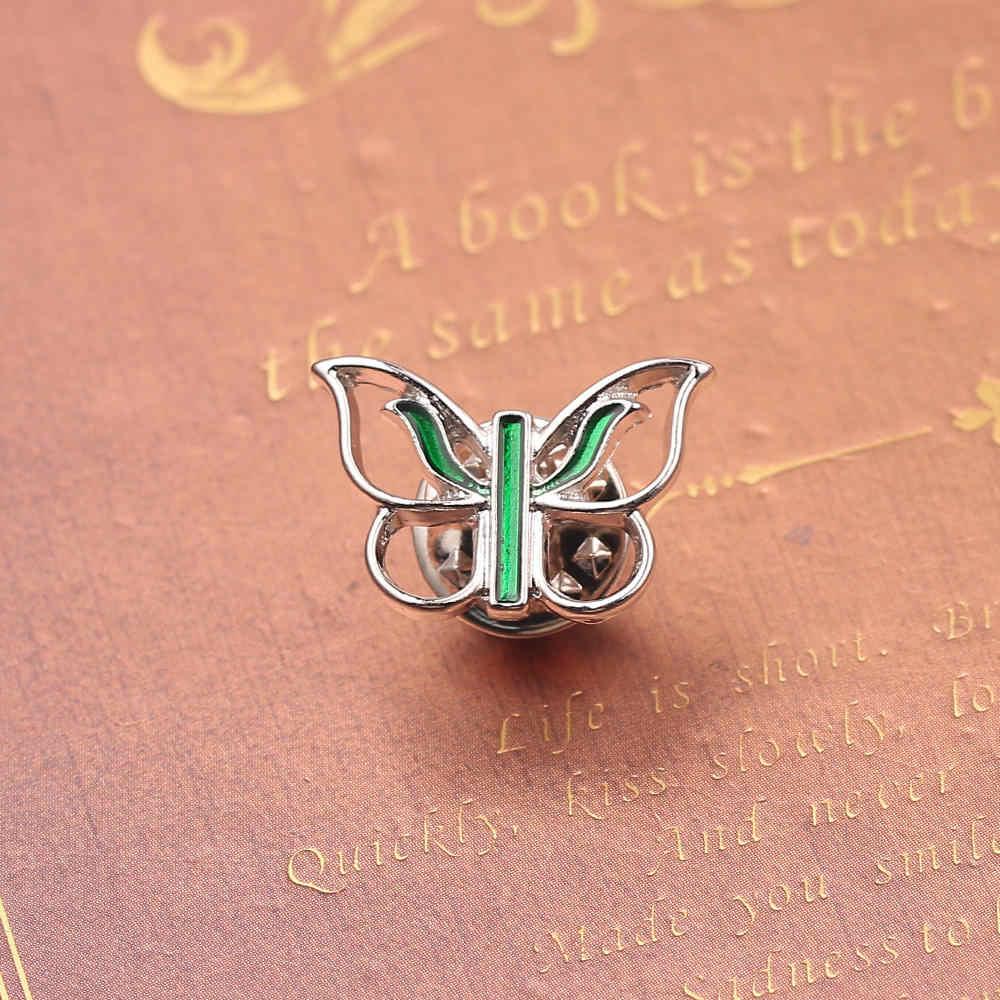 Baru Kupu-kupu Kecil Enamel Bros Lucu Serangga Sederhana Kerah Pin Hadiah Cantik untuk Pria Wanita Suit Kerah Topi Lencana Pin perhiasan