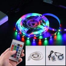 Bande lumineuse USB Flexible, ruban d'éclairage rvb, 2835SMD DC5V, 1 2 3 4 0.5 15 20M, pour écran de télévision de bureau, rétro-éclairage Diode