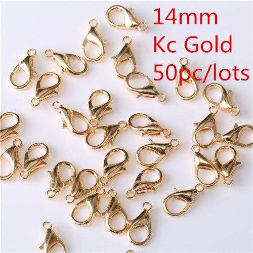 50Pc lobster Clip clasp Hooks necklace bracelet chain DIY Accessories 10//12//14mm