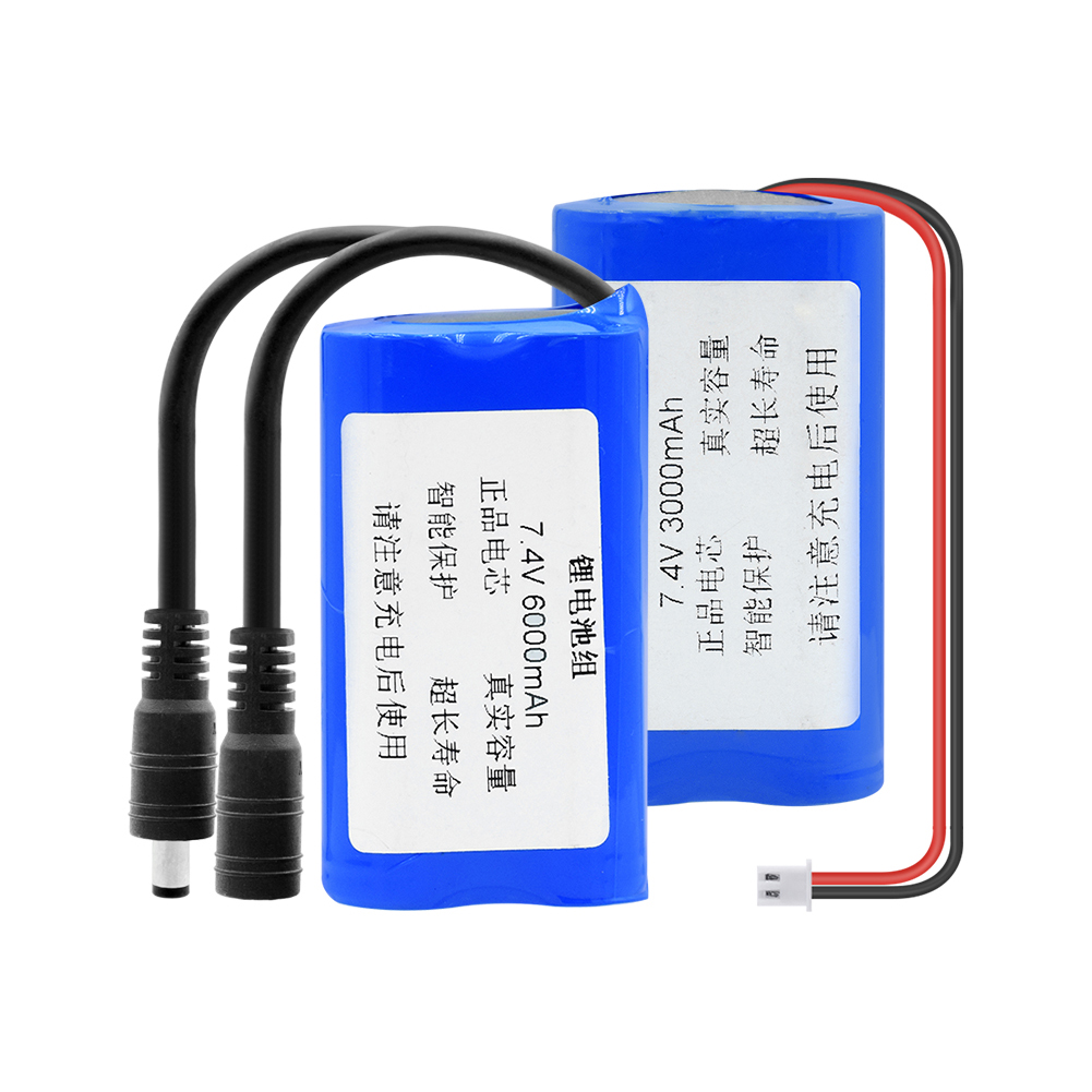 7.4V 6600mAh Battery Pack For Bicycle Light Headlamp Head Light And Flashlight