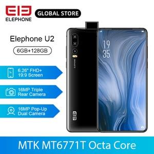 ELEPHONE U2 MT6771T Octa Core 6GB 128GB Mobile Phone 16MP Pop-Up Dual Cam 6.26