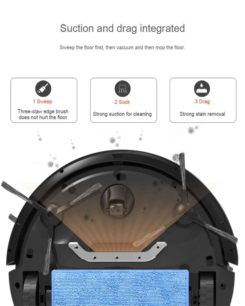 Robot Sweeping Smart Robot Vacuum Cleaner Ultra Tipis Otomatis Mengepel Mesin Penyedot Super Low Noise Otomatis Menyapu Suction