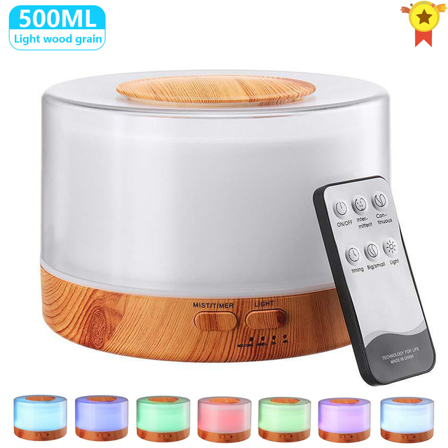500ML Aromatherapy Diffuser Xiomi Air Humidifier with LED Light Home Room Ultrasonic Cool Mist Aroma Essential Oil Diffuser 1