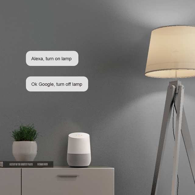 BroadLink LB1 BestCon sans Wi-Fi | 4 pièces, ampoule gradateur, fonctionne avec Siri Alexa, commande vocale, pour domotique intelligente