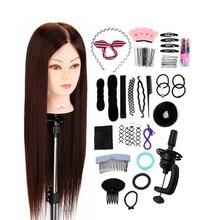 50% настоящие натуральные волосы животных манекен голова для причесок Салон Парикмахерская кукла практика обучение голова модель голова манекен