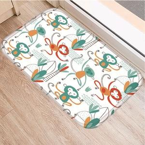 Image 5 - 小動物パターンノンスリップ寝室の装飾ソフトカーペット台所の床リビングルームのフロアマット浴室ノンスリップマット40x60センチメートル。