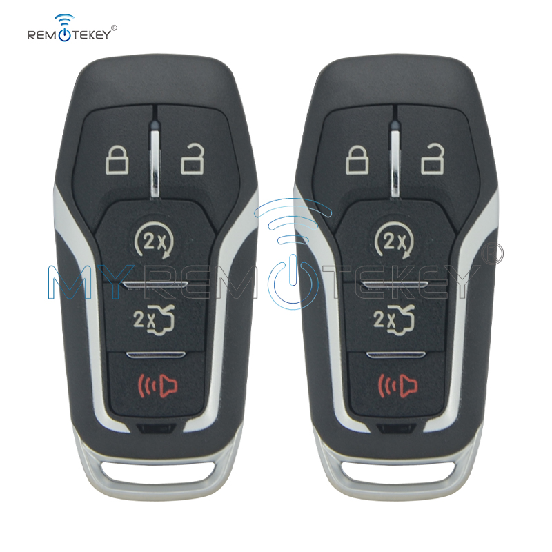 Remtekey 2pcs M3N-A2C31243300 5 button for <font><b>Ford</b></font> Edge Explorer <font><b>Fusion</b></font> 2013 2014 <font><b>2015</b></font> 2016 2017 164-R7989 Smart <font><b>key</b></font> case shell image