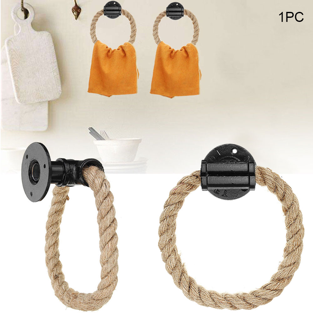 Cast Iron Hanger Decoration Wall Mount Storage Industrial Vintage Bathroom Towel Holder Home Exquisite Rope Rack Toilet