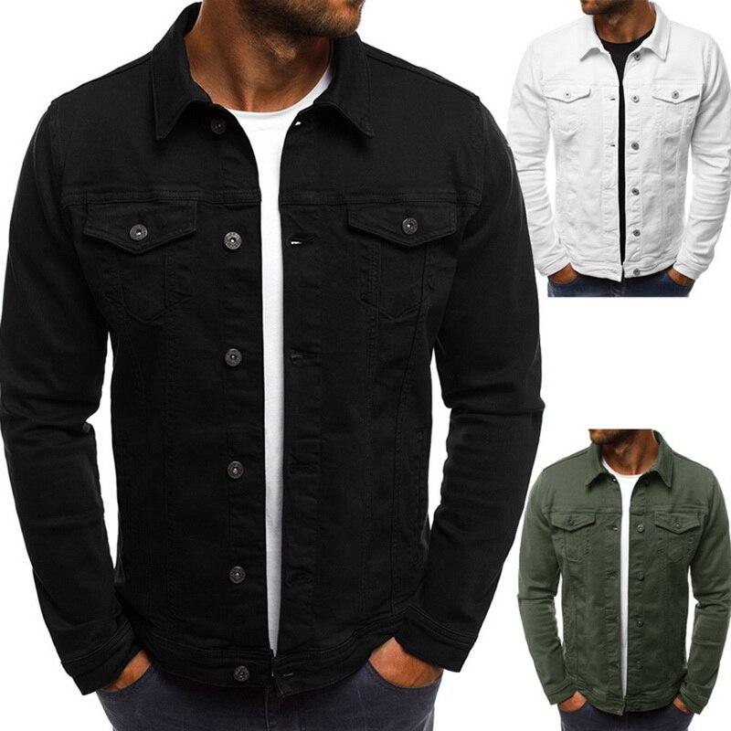 2020 Men's Denim Jacket High Quality Jean Jacket Men Denim Jackets Solid Slim Streetwear Jaqueta Jeans Masculina Plus Size 3XL