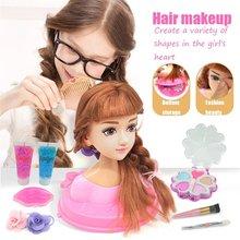 Детские куклы наполовину тела расческа для макияжа игрушка волос